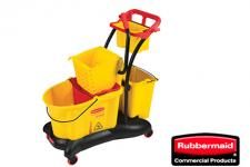 Rubbermaid FG778000YEL Balde Escurridor 33 litros Amarillo WaveBrake®Trollly Side Press